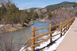 Overlooking River and 3-Rail Fence