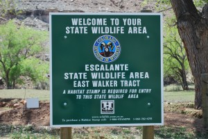 Sign for East Walker Track