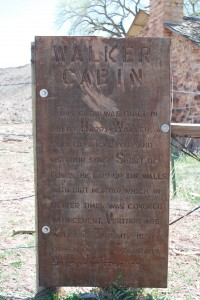 Walker Cabin Plaque
