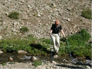 Me crossing a creek on San Luis Trail. It was a beautiful hike!